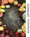 Fresh Fruit. Fruit Variety On...