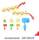 vector set business icons. | Shutterstock .eps vector #28710019