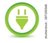 green round volumetric icon...