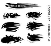 vector set of grunge brush... | Shutterstock .eps vector #287102024