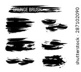 vector set of grunge brush... | Shutterstock .eps vector #287102090