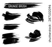 vector set of grunge brush... | Shutterstock .eps vector #287102096