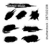 vector set of grunge brush... | Shutterstock .eps vector #287102108