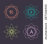 monogram design elements ... | Shutterstock .eps vector #287106443