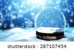 Christmas Snow Globe Snowflake...