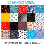 seamless pattern background  set | Shutterstock . vector #287110610