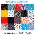 seamless pattern background  set | Shutterstock . vector #287110610