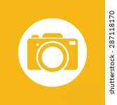 yellow flat photo camera icon