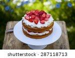 Strawberry And Cream Cake