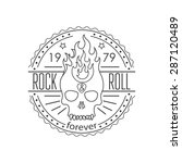 rock and roll vector... | Shutterstock .eps vector #287120489