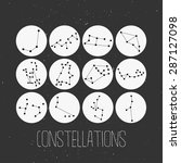 constellations of stars on... | Shutterstock .eps vector #287127098