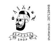 barber shop. trendy elements... | Shutterstock .eps vector #287128448