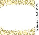 hearts gold foil confetti frame | Shutterstock . vector #287130380