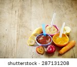 Various Kinds Of Baby Food In...