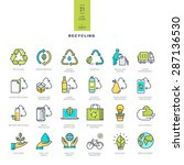 set of line modern color icons... | Shutterstock .eps vector #287136530