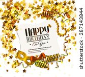 vector birthday card with... | Shutterstock .eps vector #287143844