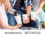 close up photo of hands of... | Shutterstock . vector #287145110