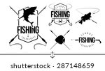 fishing silhouettes signs and... | Shutterstock .eps vector #287148659