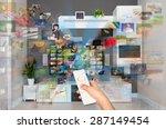video on demand vod service on... | Shutterstock . vector #287149454
