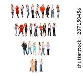 teams over white teamwork... | Shutterstock . vector #287150456