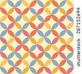 seamless vintage pattern.... | Shutterstock .eps vector #287152694