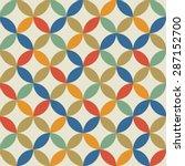 seamless vintage pattern.... | Shutterstock .eps vector #287152700