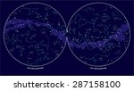 southern and northern hemisphere   Shutterstock .eps vector #287158100