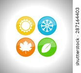 four seasons icon symbol vector ... | Shutterstock .eps vector #287164403
