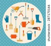 garden tools set. garden set...   Shutterstock .eps vector #287170166