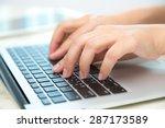 closeup of business woman hand...   Shutterstock . vector #287173589
