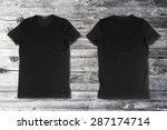 blank black t shirts on a...   Shutterstock . vector #287174714