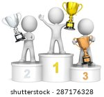 winners podium. the dude 3d... | Shutterstock . vector #287176328