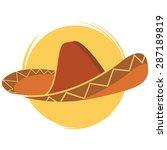 Mexican Sombrero Hat Vector