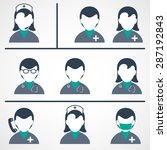 medical   health care icons | Shutterstock .eps vector #287192843