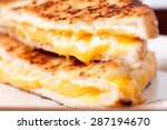 gooey delicious grilled cheese... | Shutterstock . vector #287194670
