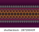 geometric ethnic pattern design ...   Shutterstock .eps vector #287200439