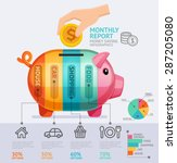 money saving monthly report... | Shutterstock .eps vector #287205080