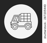 truck line icon | Shutterstock .eps vector #287205440