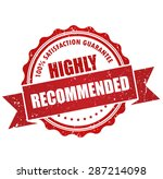 highly recommended stamp ... | Shutterstock .eps vector #287214098