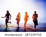 friendship freedom beach summer ... | Shutterstock . vector #287229743