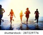 friendship freedom beach summer ... | Shutterstock . vector #287229776