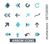 arrow  direction icons  signs ... | Shutterstock .eps vector #287230583