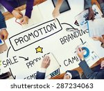 promotion advertisement sale... | Shutterstock . vector #287234063
