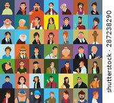 set of people icons in flat... | Shutterstock .eps vector #287238290