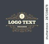 scissors hairdresser sign icon. ... | Shutterstock .eps vector #287238878