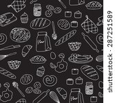 vector set with food. | Shutterstock .eps vector #287251589