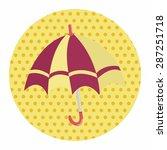 umbrella theme elemets vector... | Shutterstock .eps vector #287251718