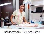 asian man tailor fashion... | Shutterstock . vector #287256590