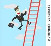 businessman running the ... | Shutterstock .eps vector #287256653