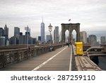 Brooklyn Bridge  Walkway In Ne...